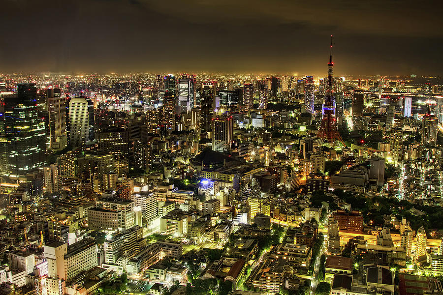 Horizontal Photograph - Cityscape At Night by Agustin Rafael C. Reyes