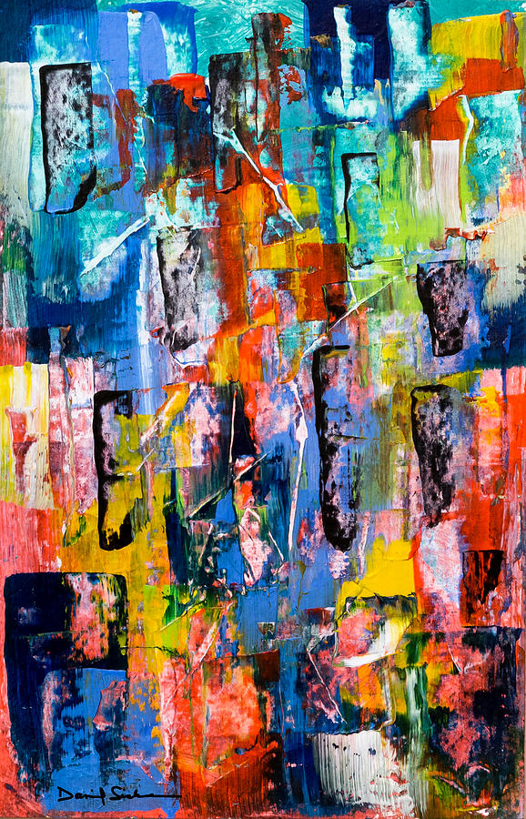 Abstract Painting - Cityscape by Dan Sisken