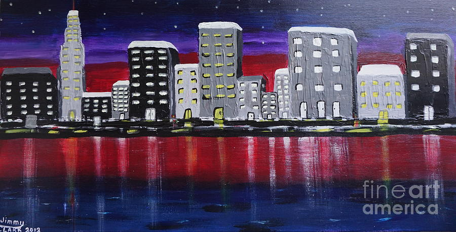 CityScape Painting by Jimmy Clark