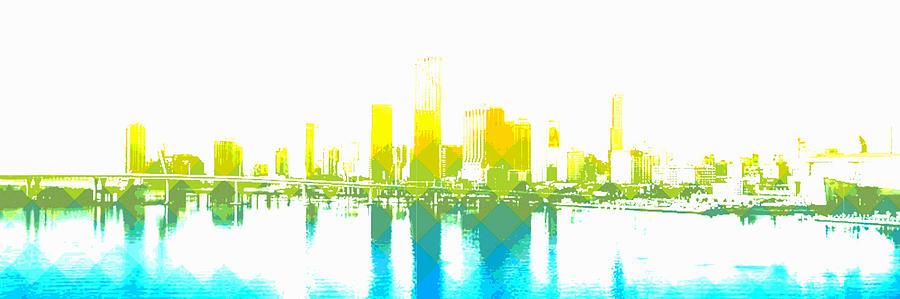 Cityscape Miami by Mary Clanahan