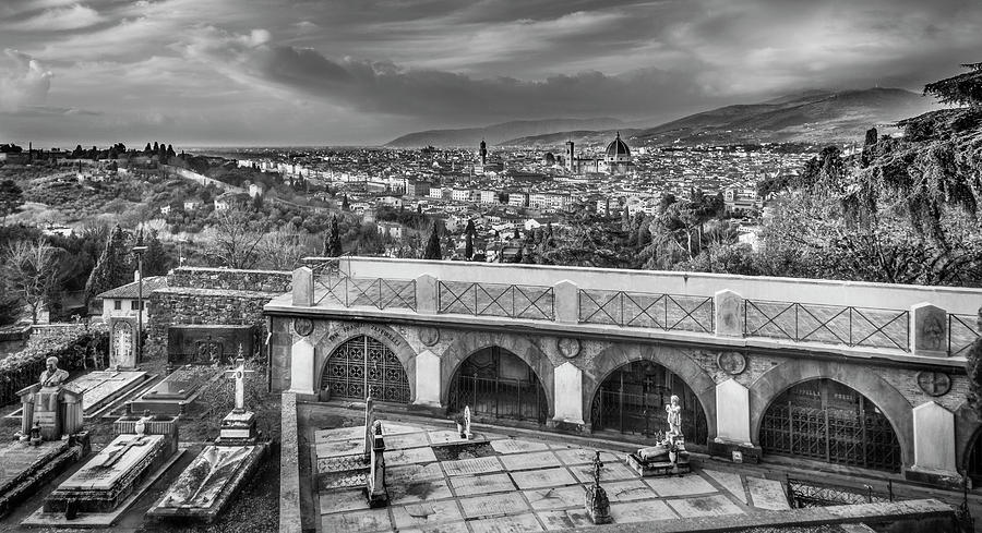 Cityscape of Florence and cemetery by Sonny Marcyan