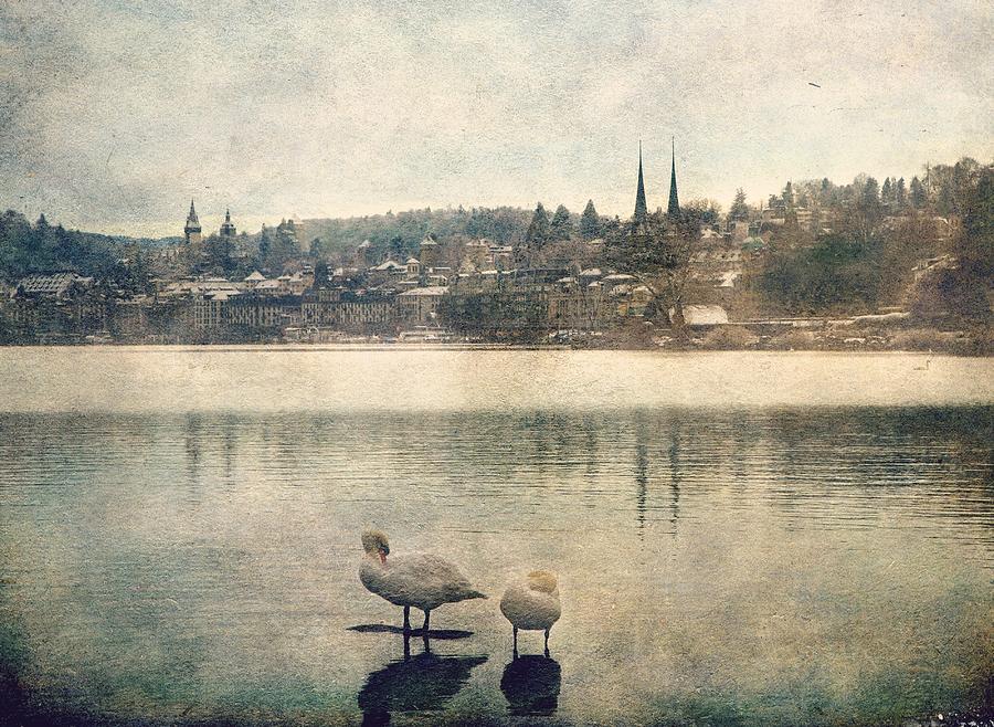 Cityscape of Lucerna by Vittorio Chiampan