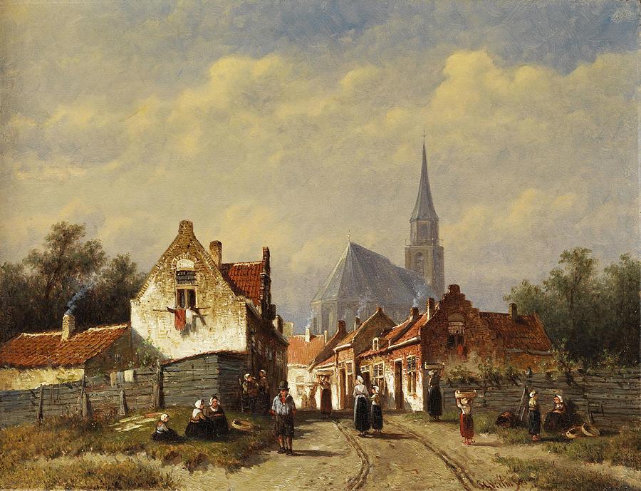 Cityscape Painting - Cityscape by Petrus Gerardus Vertin