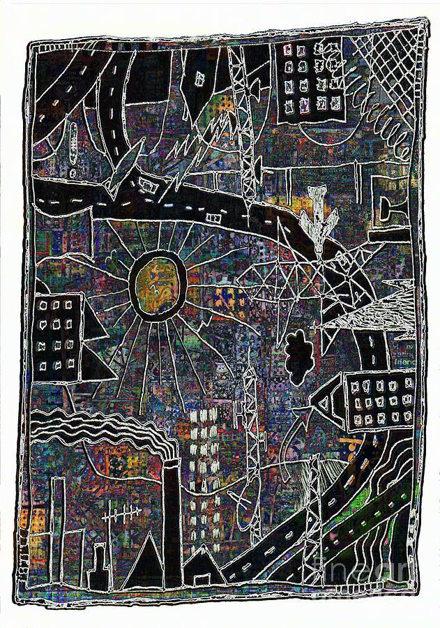 City Sun Digital Art - Citysun 2 by Andy  Mercer