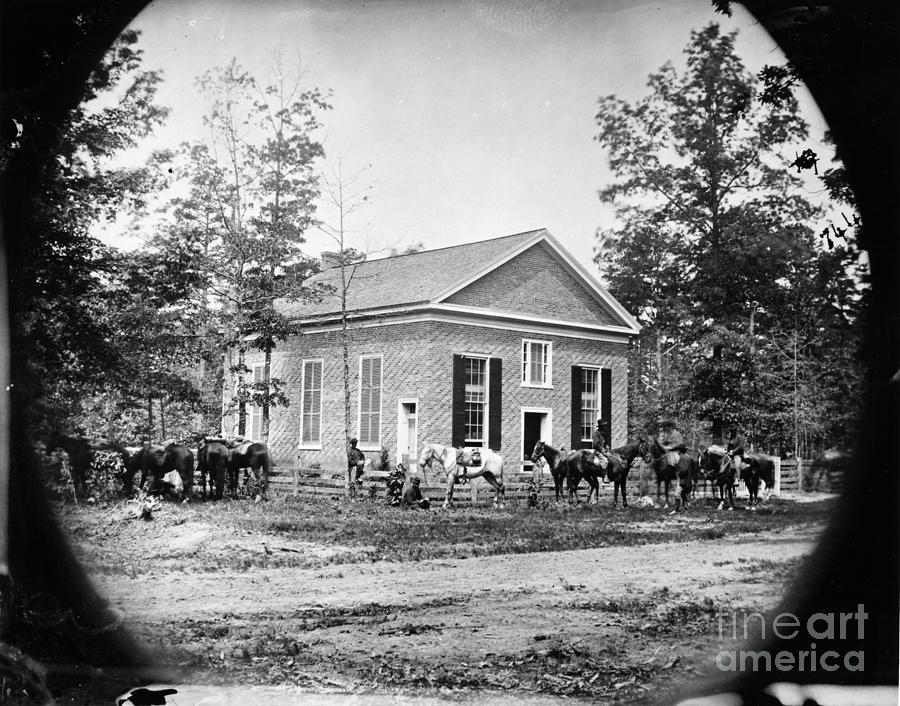 1864 Photograph - Civil War: Bethel Church by Granger