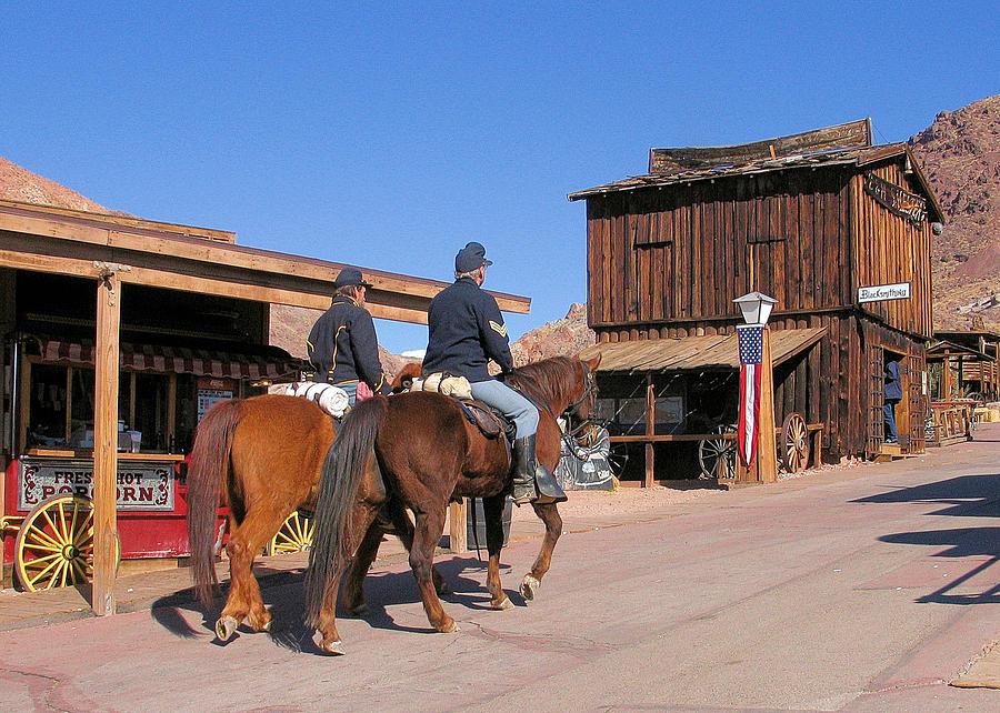 Reenactor Photograph - Civil War Cavalry by Bill Mollet