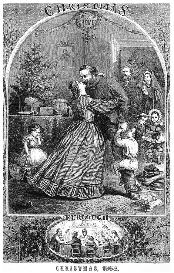 1863 Photograph - Civil War: Christmas by Granger