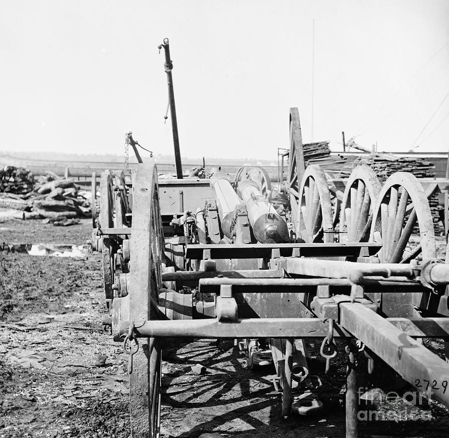 1865 Photograph - Civil War, Field Guns, 1865 - To License For Professional Use Visit Granger.com by Granger