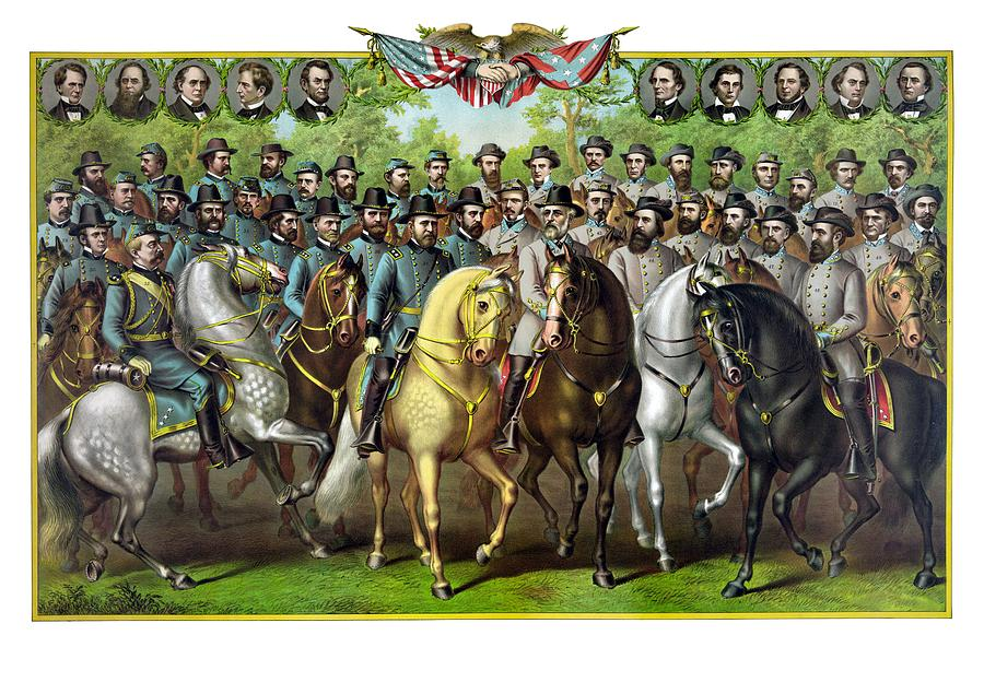 Civil War Painting - Civil War Generals and Statesman by War Is Hell Store