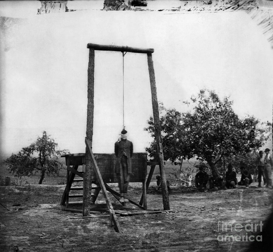 Civil War Hanging 1864 Photograph By Granger