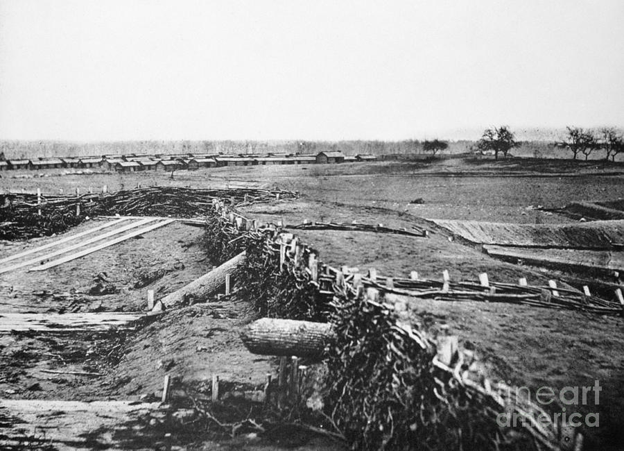 1861 Photograph - Civil War: Quaker Guns by Granger