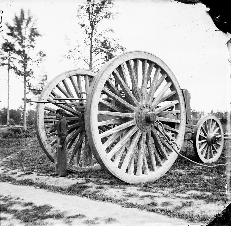 1865 Photograph - Civil War, Sling Cart, 1865.  by Granger