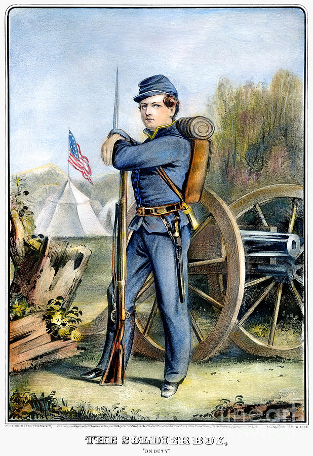 Civil War Soldier Union Painting By Granger