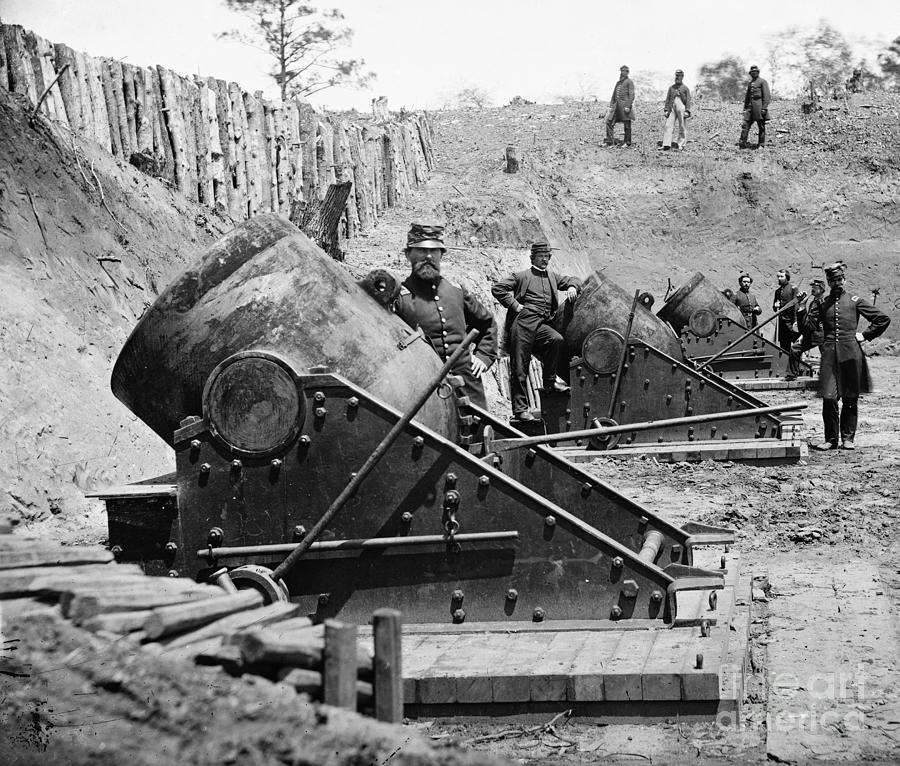 1862 Photograph - Civil War: Union Mortars by Granger