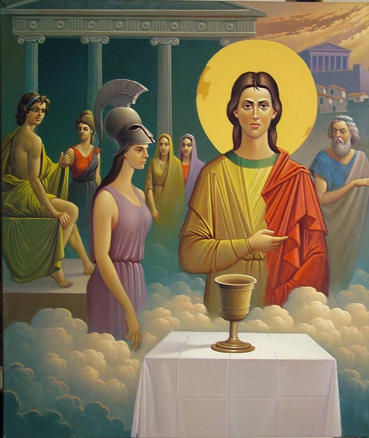 Symbolic Painting - Civilisation by Pericles Balafas