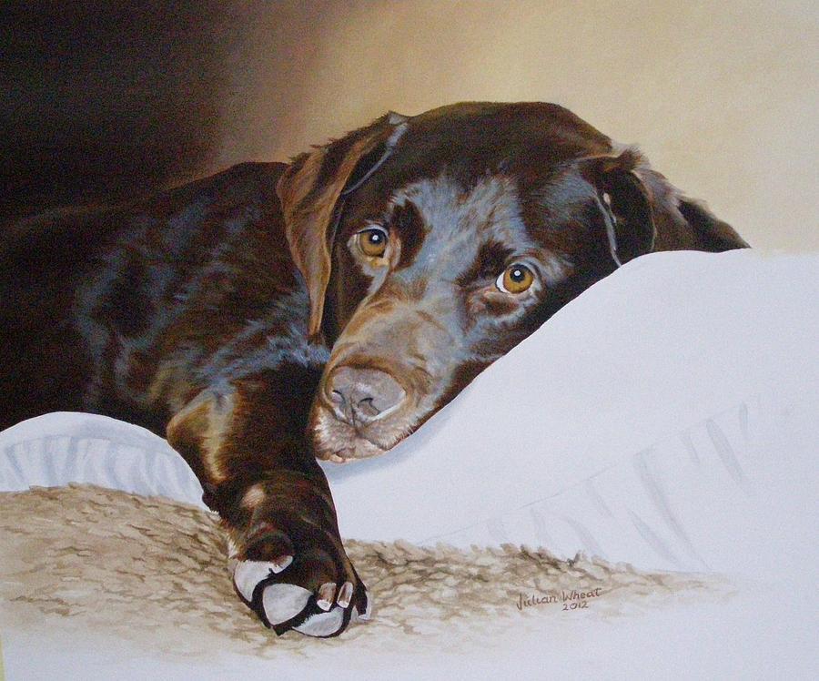 Labrador Painting - CJ by Julian Wheat