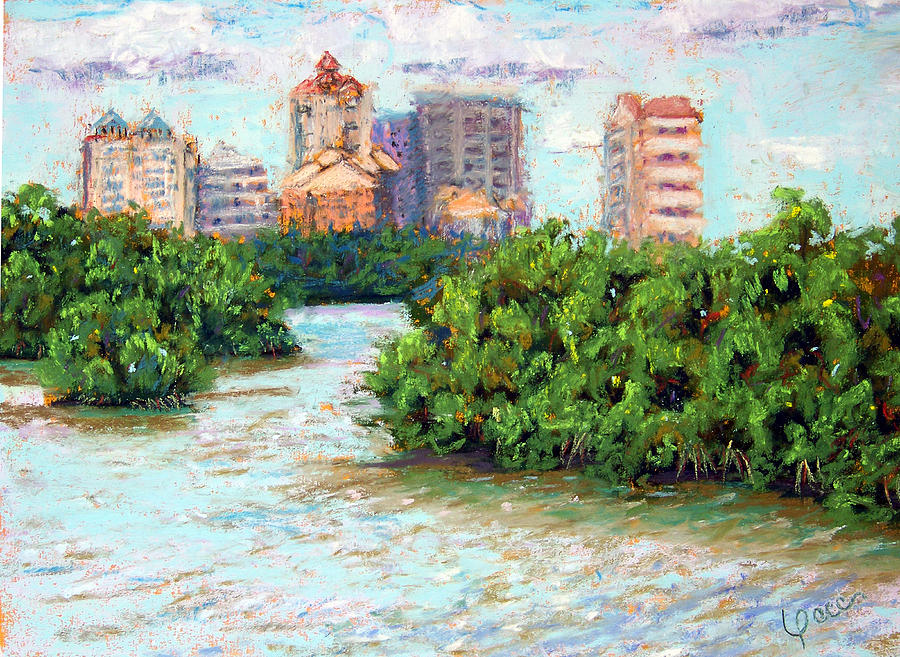 Naples Painting - Clam Pass I by Laurie Paci