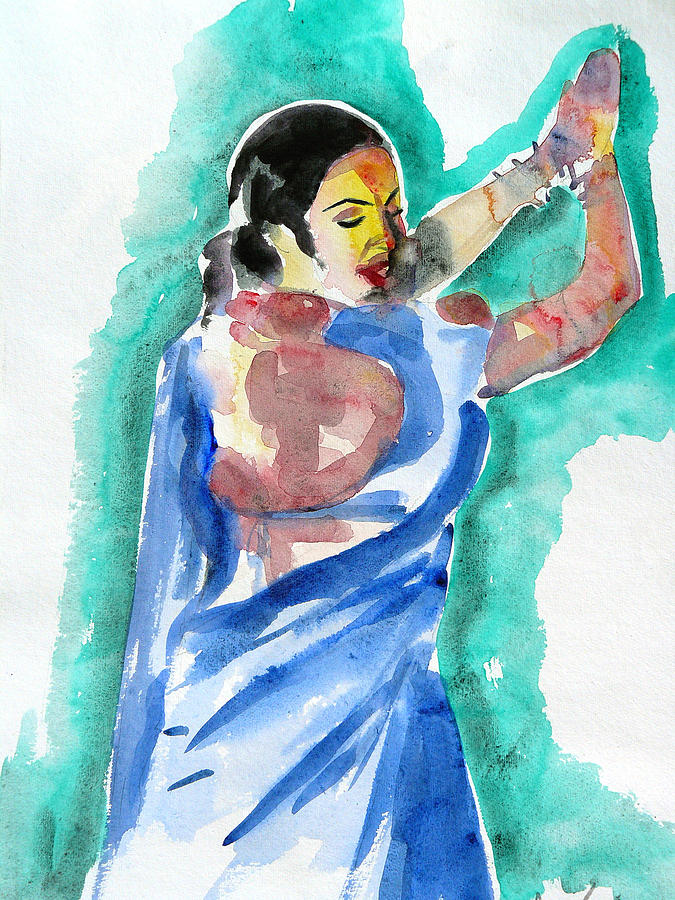Acrylic Painting - Clapping And Dancing by Abin Raj