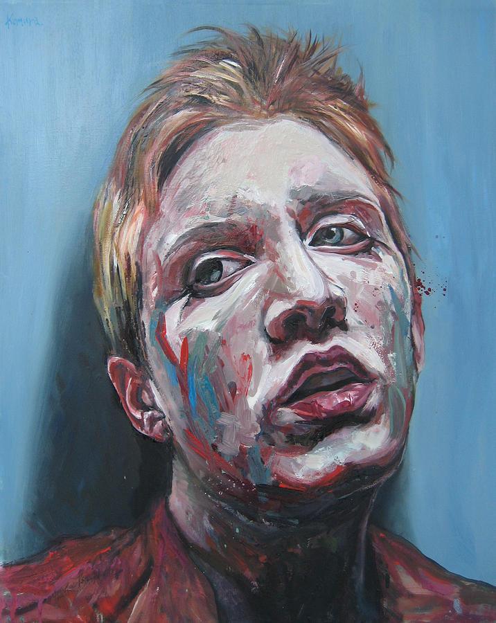 Portrait Painting - Clara 5 by Yuki Komura