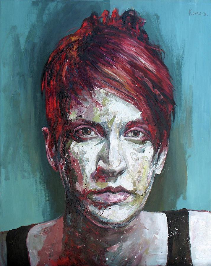 Portrait Painting - Clara 7 by Yuki Komura