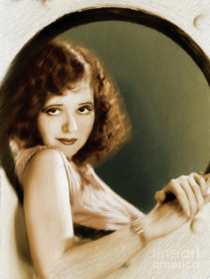 Clara Bow, Vintage Actress Painting