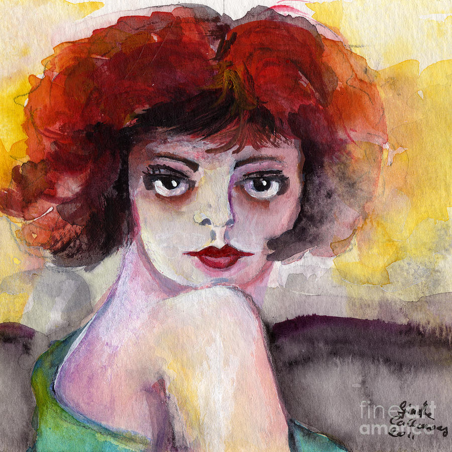 Clara Bow Painting - Clara Bow Vintage Movie Stars The It Girl Flappers by Ginette Callaway