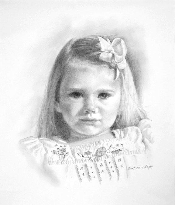 Portrait Painting - Clara by Pat Aube Gray