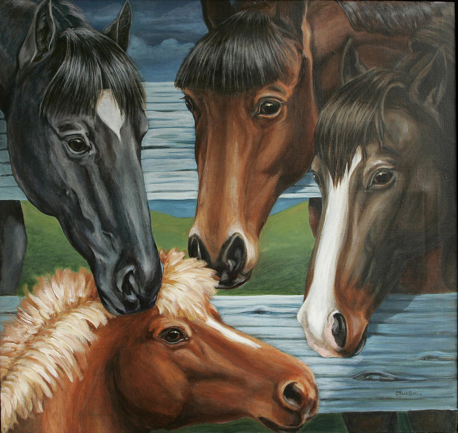 Pony Painting - Claras pony by Colleen  Maas-Pastore