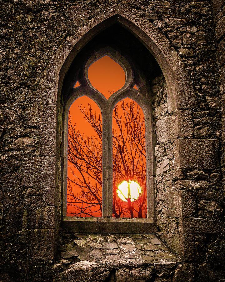 Clare Abbey Sunrise by James Truett