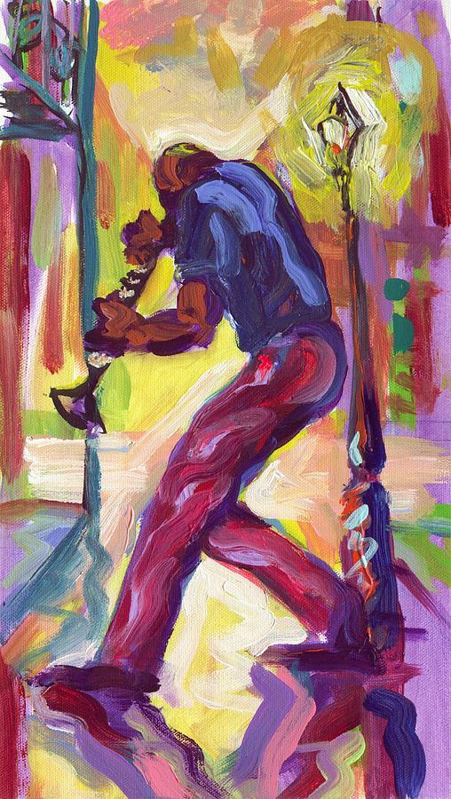 Clarenet Painting - Clarenet Under The Balconies by Saundra Bolen Samuel