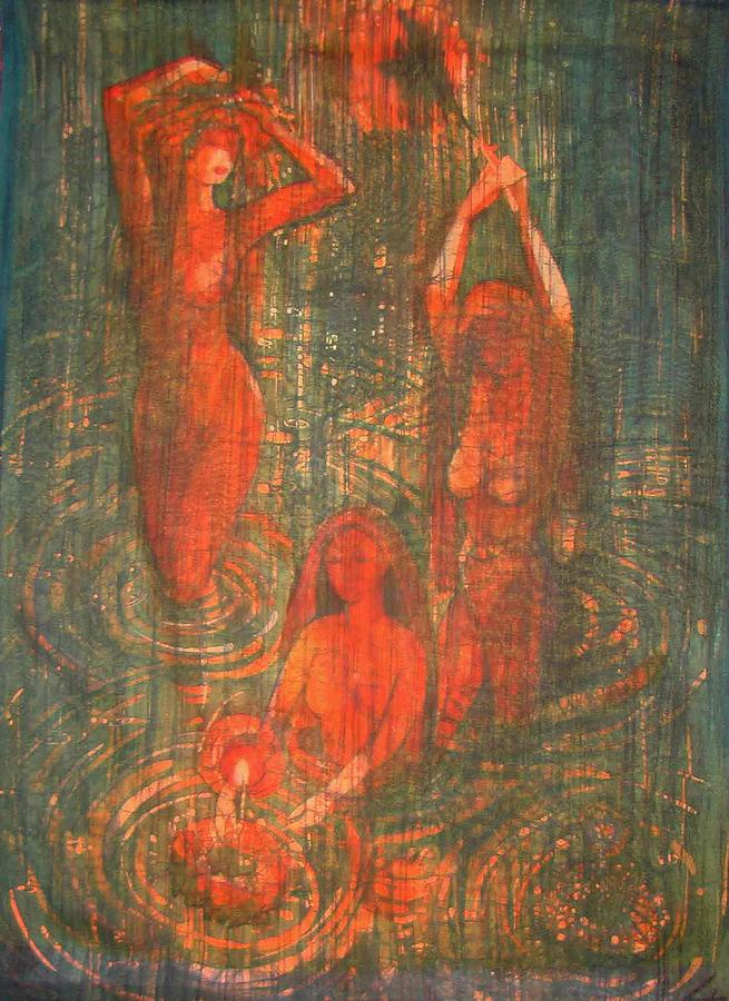 Impressionism Painting - clarification By Water  by Chagorova Tanja