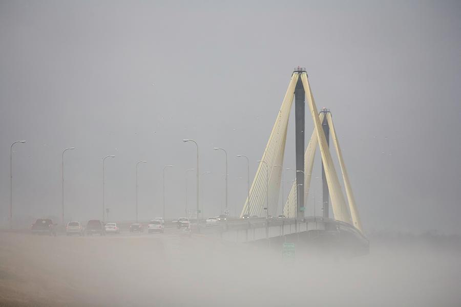 Clark Bridge Photograph - Clark Bridge in Fog by Mark Braun