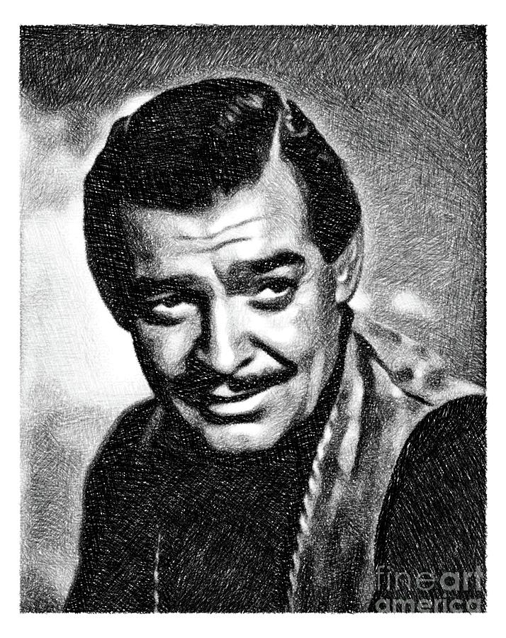 Clark Gable, Vintage Actor By Js Drawing