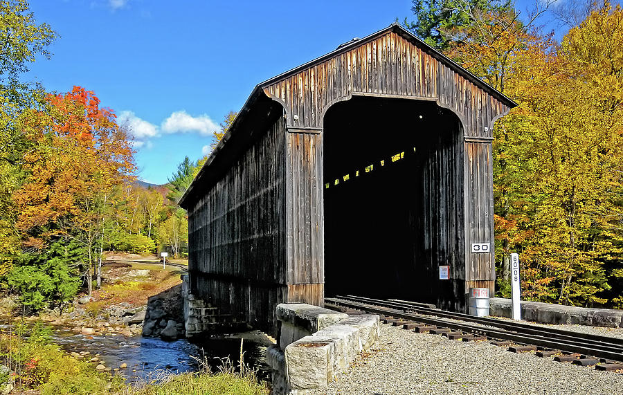 2008 Photograph - Clarks Trading Post Railroad Covered Bridge by Liz Mackney