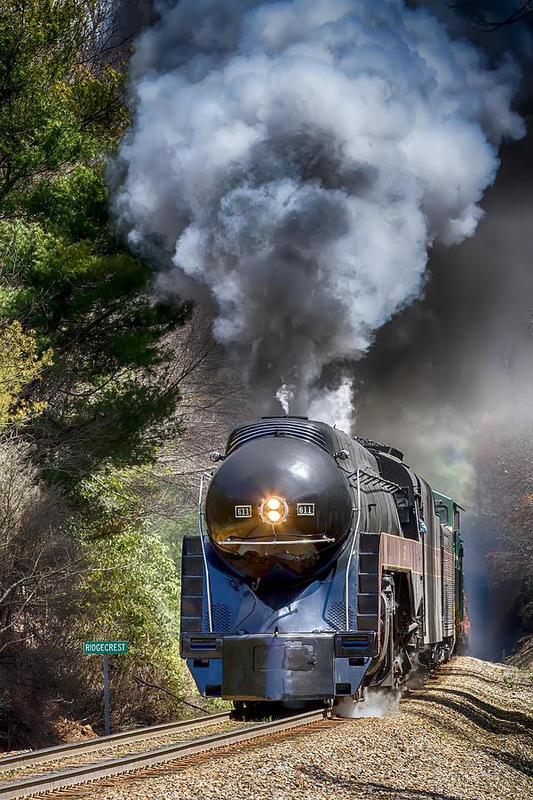 Class J 611 Steam Engine At Ridgecrest Photograph