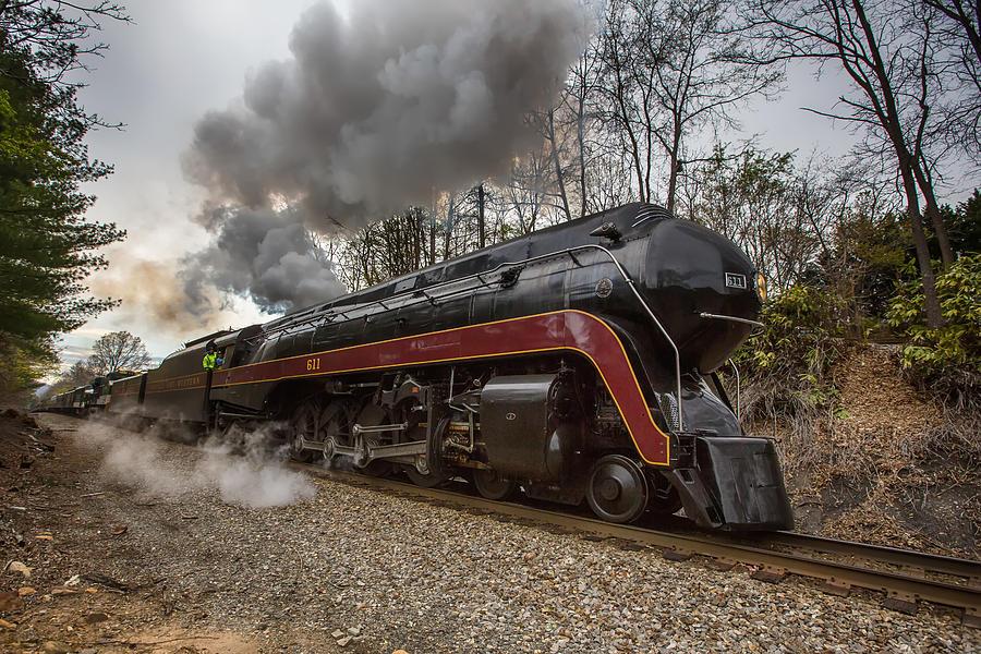 Class J 611 Steam Engine In Black Mountain Photograph