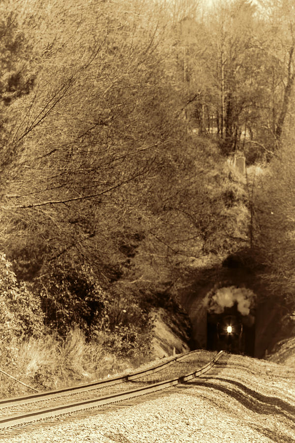 Class J 611 Steam Engine In The Tunnel Photograph