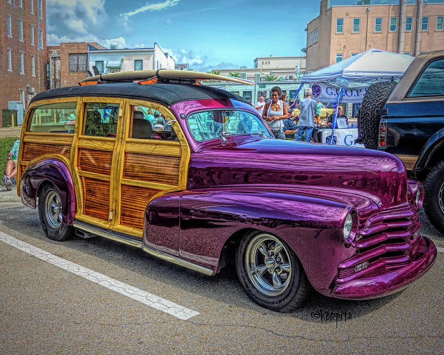 Classic 48 Chevy Woodie by Rebecca Korpita