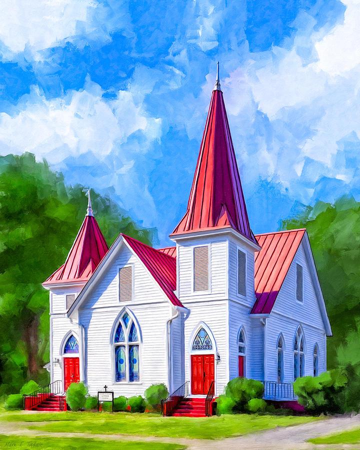 Classic american church oglethorpe lutheran mixed media by mark georgia mixed media classic american church oglethorpe lutheran by mark tisdale sciox Gallery