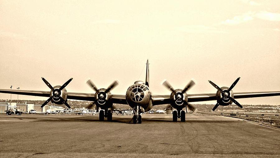 Classic B-29 Bomber Aircraft Photograph
