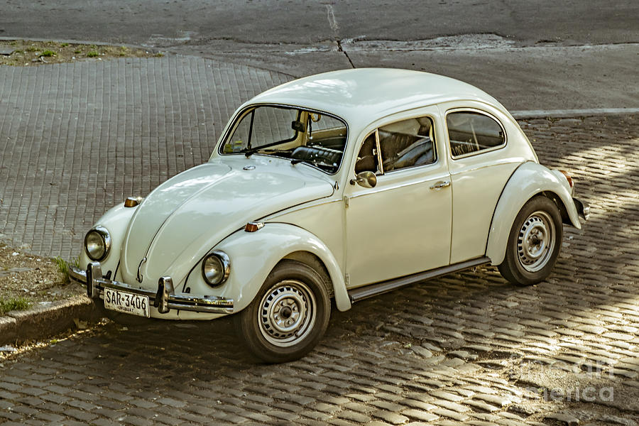 Car Photograph - Classic Beetle Car Parked On Street by Daniel Ferreira-Leites