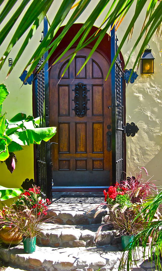 Door Photograph - Classic Belmont Shore by Gwyn Newcombe