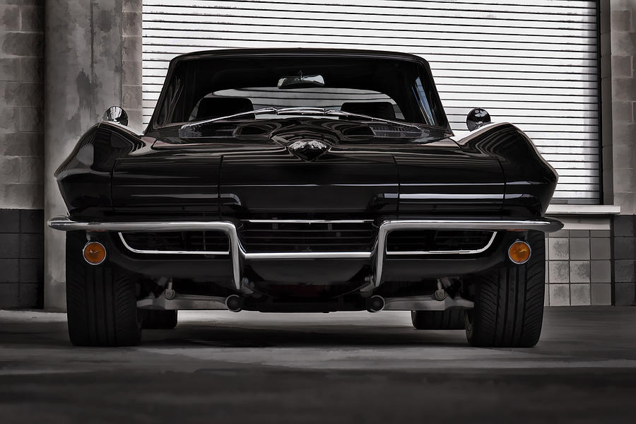 Corvette Digital Art - Classic Black by Douglas Pittman