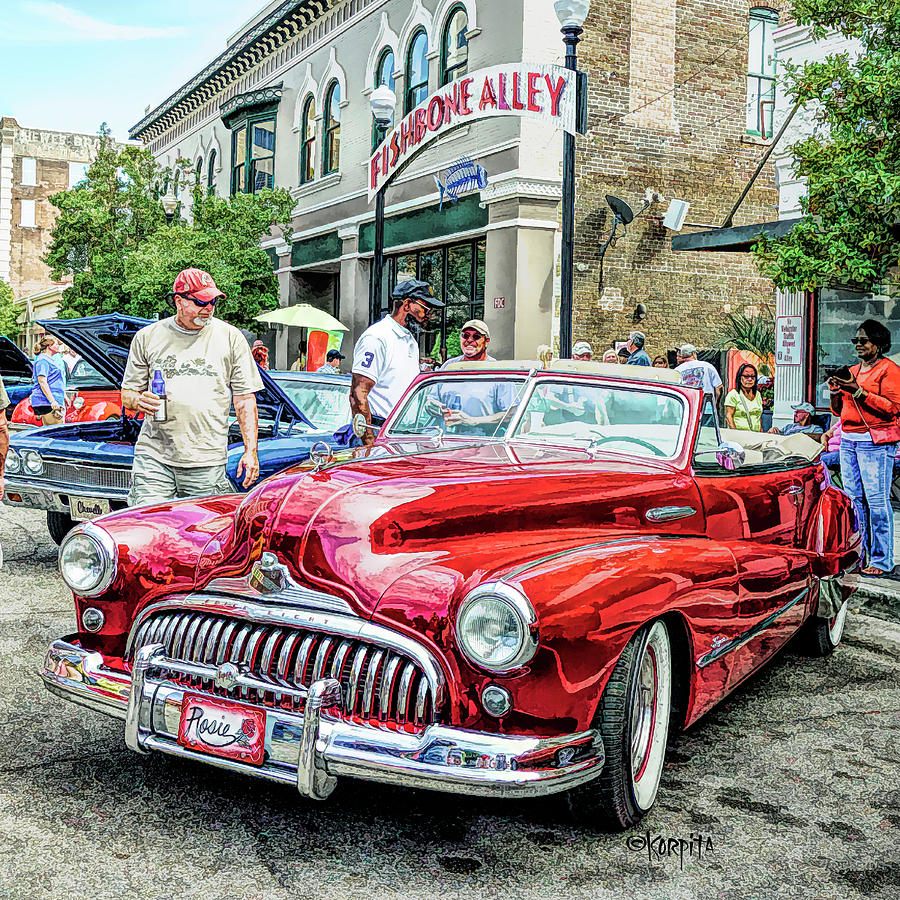 Classic Buick Roadmaster Convertible by Rebecca Korpita