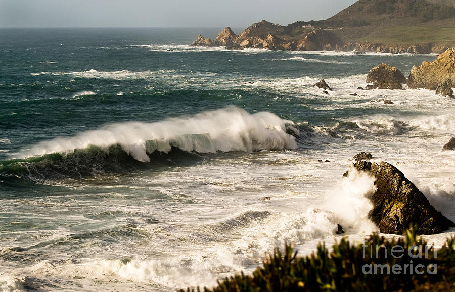 Costal Photograph - Classic California Surf by Norman Andrus