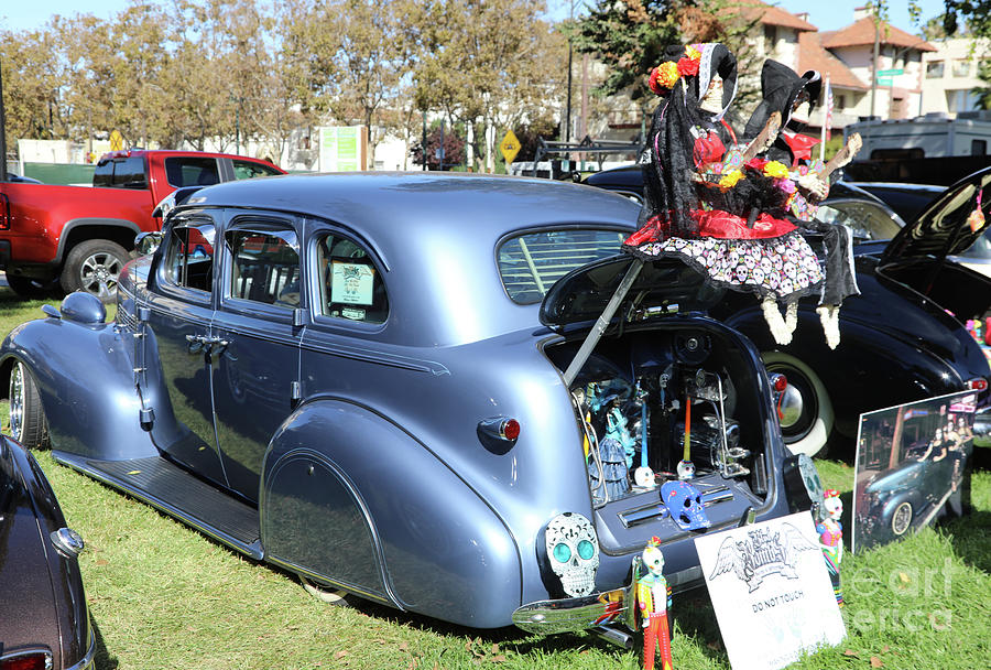 Dia De Los Muertos Photograph - Classic Car Decorations Day Dead  by Chuck Kuhn