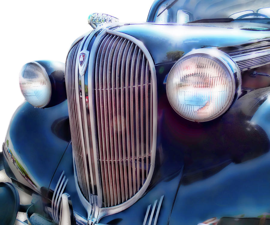 Old Plymouth Headlight : Classic car grill plymouth photograph by ann powell