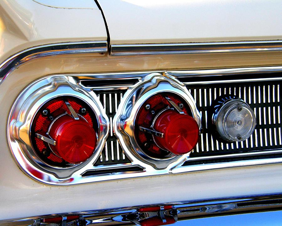 Vintage Auto Headlight Styles : Classic car tail lights photograph by james yellen