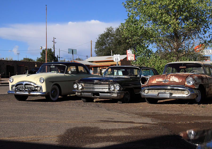 Classic Cars Ash Fork Photograph by Troy Montemayor