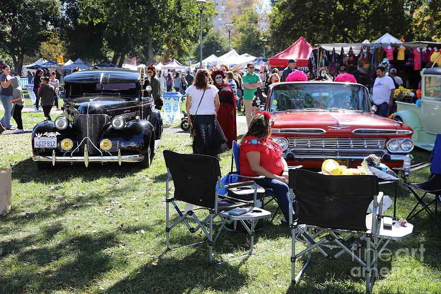 Dia De Los Muertos Photograph - Classic Cars Day Of The Dead II by Chuck Kuhn